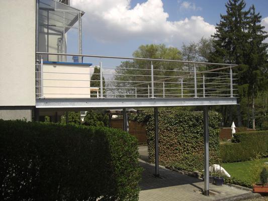 Schlosserei Bodack Balkonanbau neu
